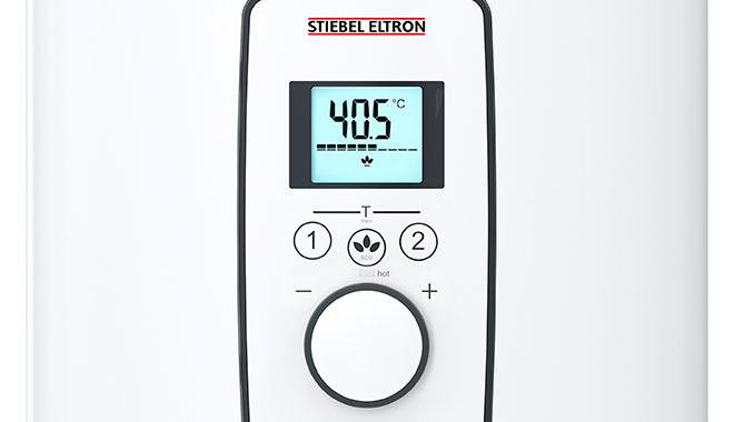 DEL Plus Water Heater LCD Display