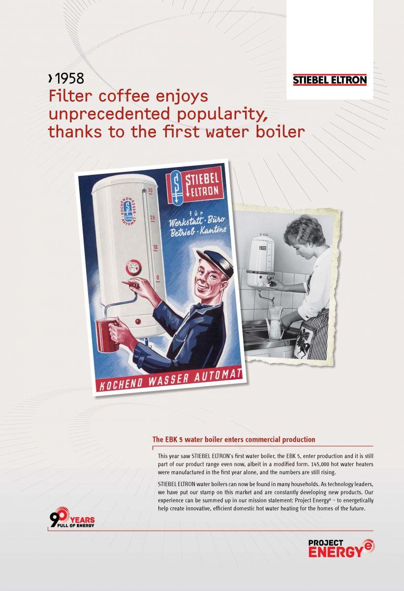 Warmwasserboiler Stiebel Eltron stiebel eltron's first water boiler - 1958 - stiebel eltron